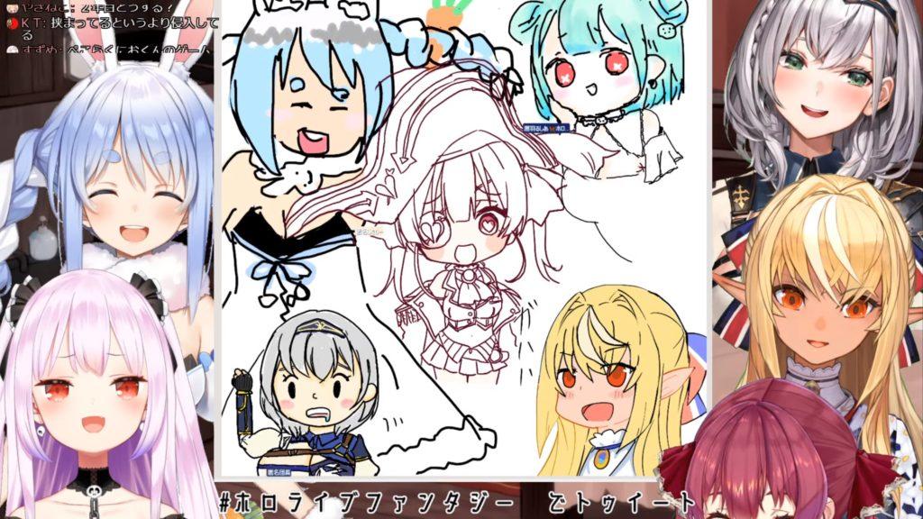 65u 3期生ホロライブファンタジー大集合のお絵描き雑談!