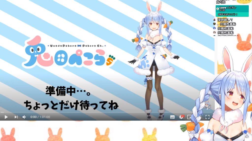 ijijiiiiiiiiiiiiiiiiiii 1周年記念 デビュー1年!ありがとうぺこ!ホロライブ/兎田ぺこら