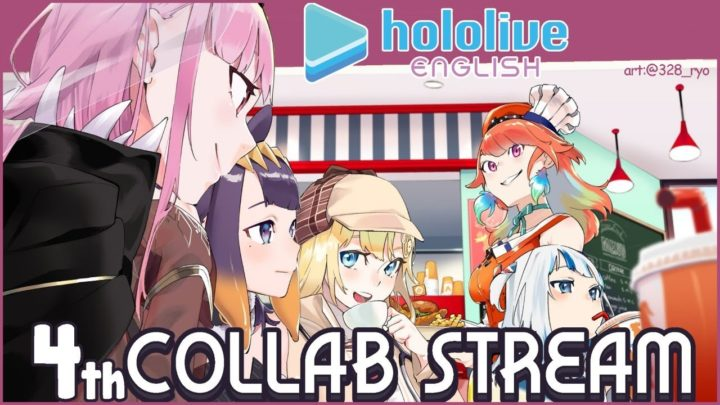 【COLLAB】SNACK TIME! 4th Collab Stream (The Best Number) #hololiveEnglish #holoMyth