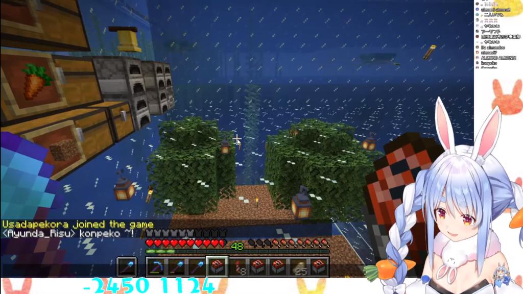 2020 12 09 62 【Minecraft】ここに兎田建設在り!!!!!!!!!!ぺこ!【ホロライブ/兎田ぺこら】