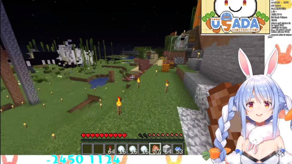 2020 12 09 74 【Minecraft】ここに兎田建設在り!!!!!!!!!!ぺこ!【ホロライブ/兎田ぺこら】