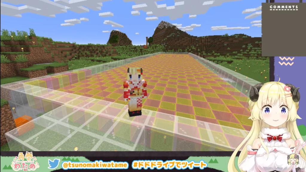 2021 01 28 35 【Minecraft】つのまきじゃんけん建設予定地を整地するぞ!【角巻わため/ホロライブ4期生】