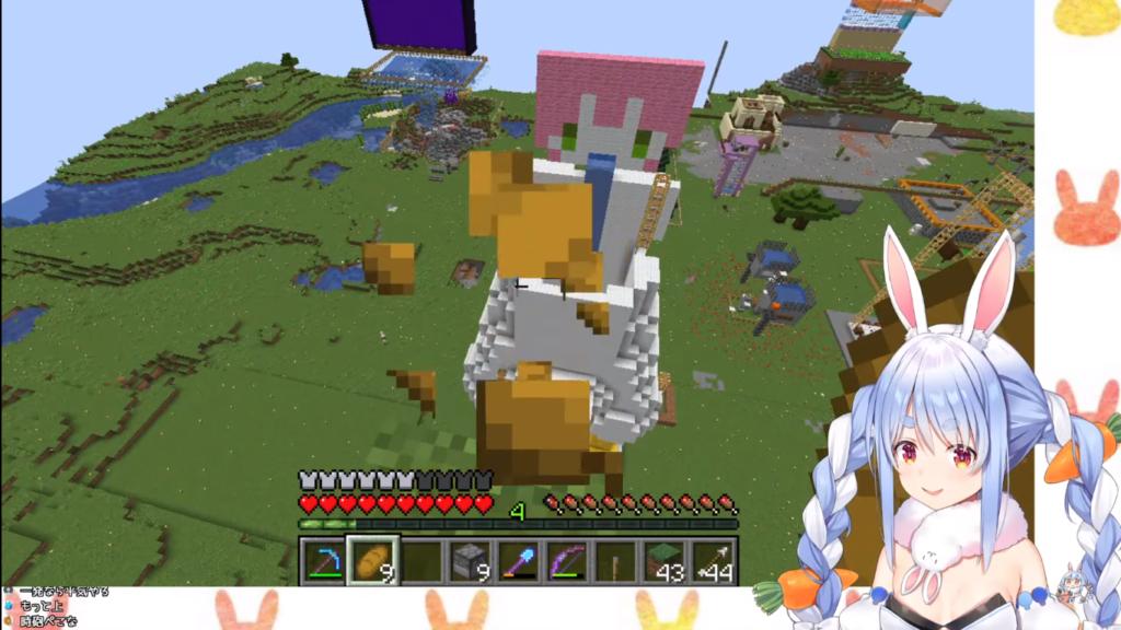 2021 02 03 64 【Minecraft】ぺこダム改造!!新たなる武器を装備せよ!!!と思いきや...ぺこ!【ホロライブ/兎田ぺこら】