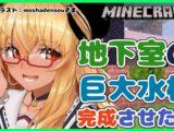 【歌うマイクラ】地下室の箱庭作成中!Song and Minecraft【ホロライブ/不知火フレア】