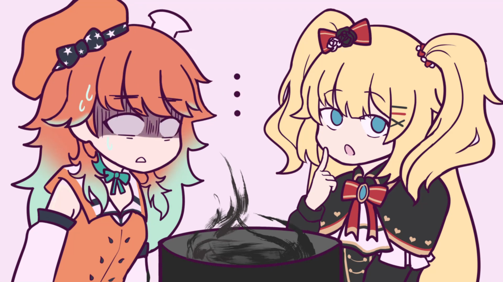 2ba224f7fb19deee411a9d12e6731ae1 【Hololive Animated Clip】 Kiara Suffers through Haachama's Cooking 【ホロライブ/手描き切り抜き漫画】