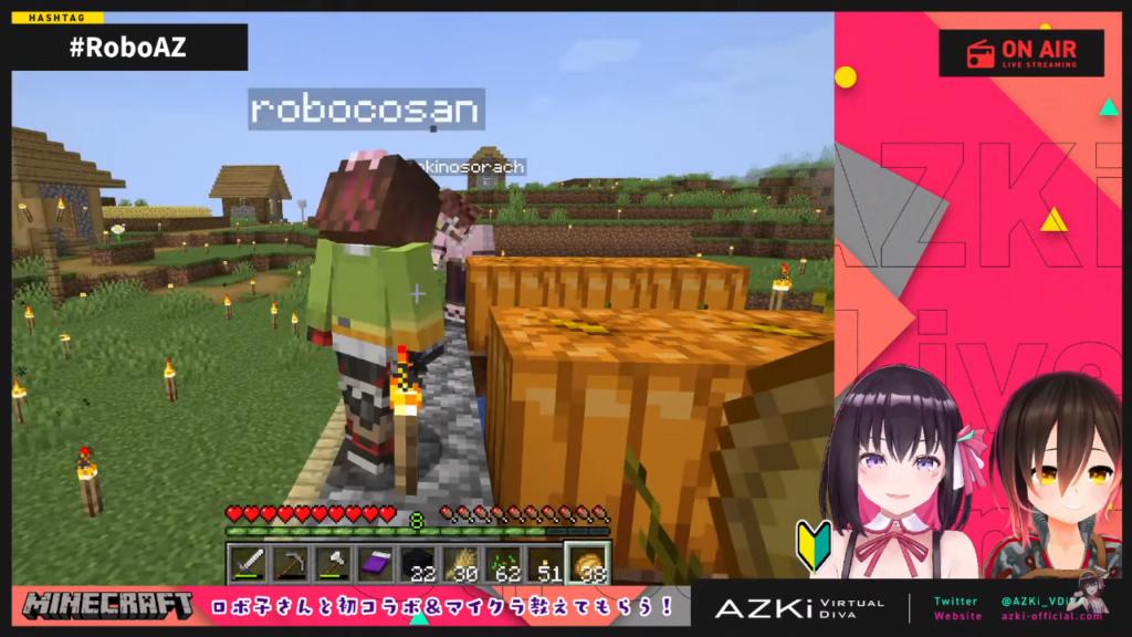 cbb51725b9ed3330accf15ed7952e9f2 【Minecraft】ロボ子さんと初コラボ!ネザーへ連れていってもらう!?【#RoboAZ】