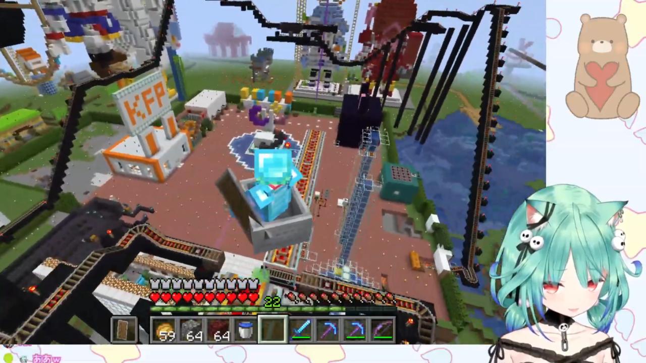 cee0fa897c301d68ef9a23a0a1c2f099 【Minecraft】貸し切り遊園地でるしあちゃんの絶叫&雄叫びを楽しむ枠【潤羽るしあ/ホロライブ】