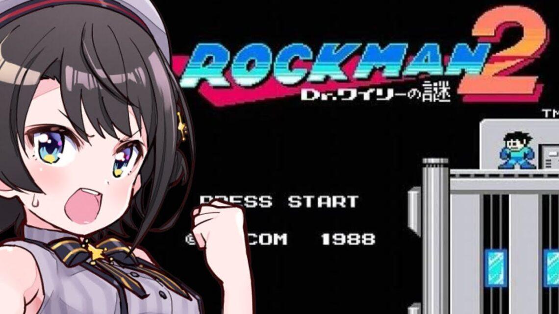 【#生スバル】初見実況!ロックマン2すばる!:Megaman【ホロライブ/大空スバル】