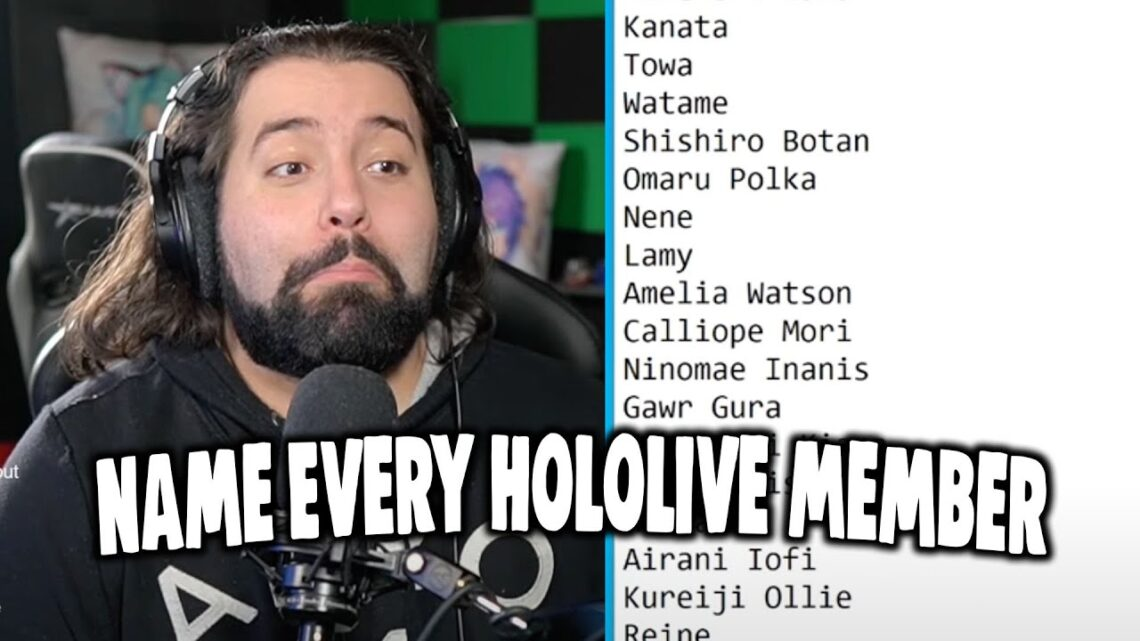 Naming Every Hololive Member From Memory Challenge  Koe-ojisanの記憶力チャレンジ!!ホロライブ全員言えるかな?