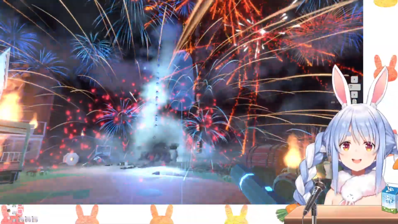 0f4043f0fa7302acd402b8646c7a11be 【Fireworks Mania】大花火を打ち上げたる!!!!ぺこ!【ホロライブ/兎田ぺこら】