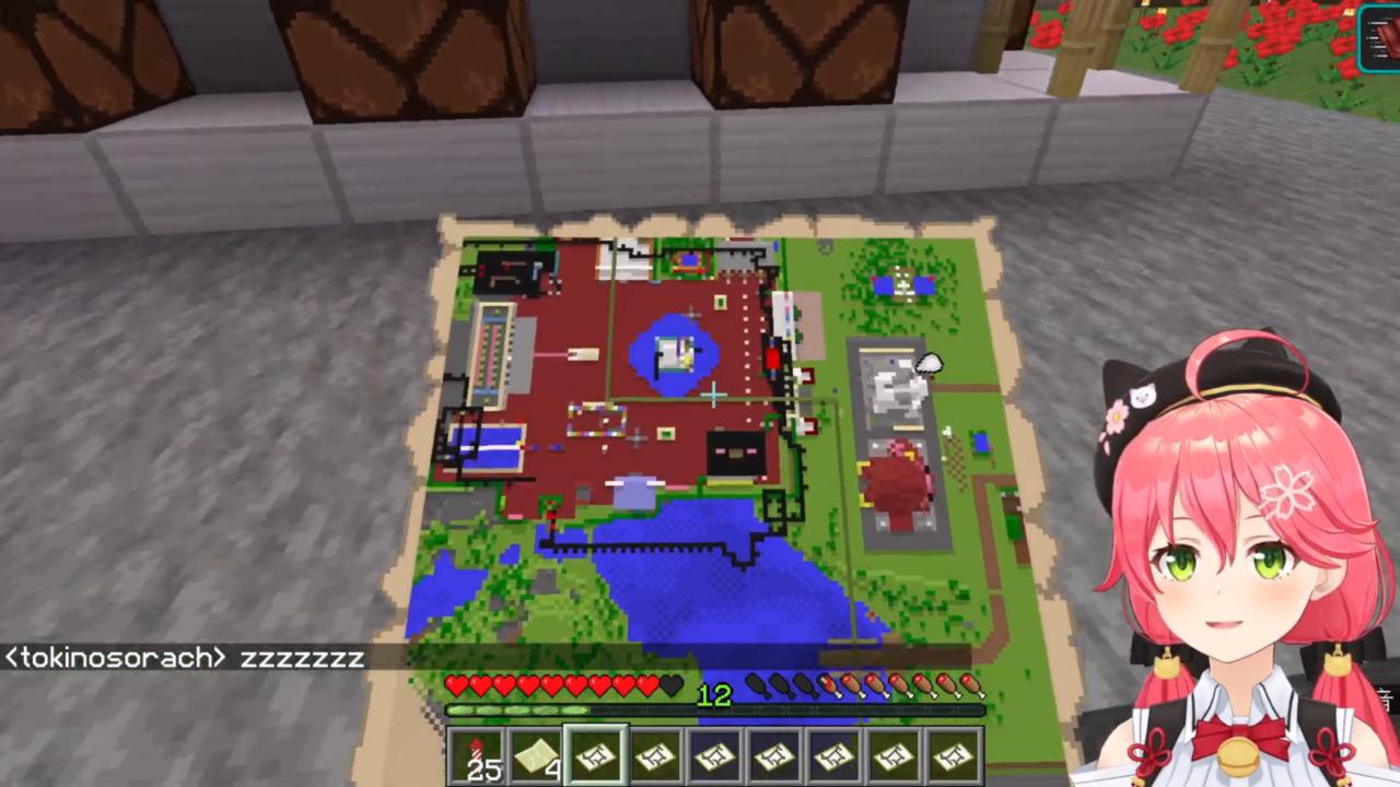 317f9af8cdad429a5d47ba1ac80dfd46 【 Minecraft 】ホロ鯖のMAP作りやったにぇ!【ホロライブ/さくらみこ】