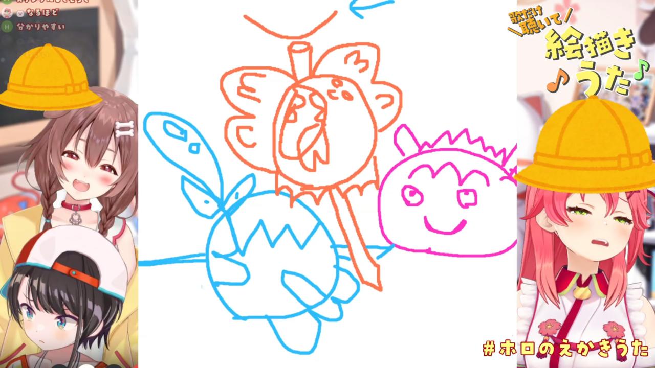3d6e5b58f52f64dd3a032f89364d786c 【 #ホロのえかきうた 】ホロメンの作った絵描き歌を歌だけ聴いて描く選手権!🎨🎏【ホロライブ/さくらみこ/大空スバル/戌神ころね】