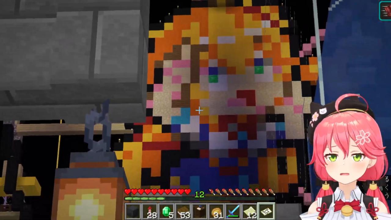 58e1d3f86ad9a63c583d8f69cf0d52b6 【 Minecraft 】ホロ鯖のMAP作りやったにぇ!【ホロライブ/さくらみこ】