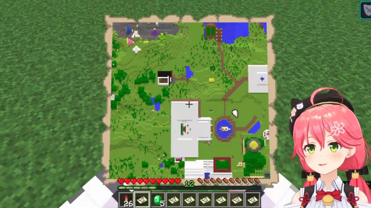 5bd2fdd5d93295d57e347ab40d104f22 【 Minecraft 】ホロ鯖のMAP作りやったにぇ!【ホロライブ/さくらみこ】