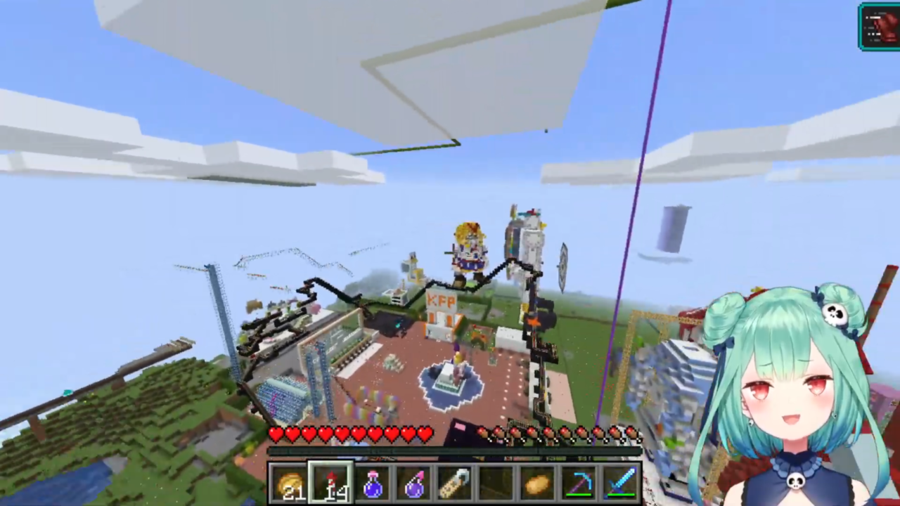 6bae78cc0220a8c8593d31e8f1b5fbb7 【Minecraft】転職⁉事件!?ホロメンの建設会社に遊びに行く!【潤羽るしあ/ホロライブ】