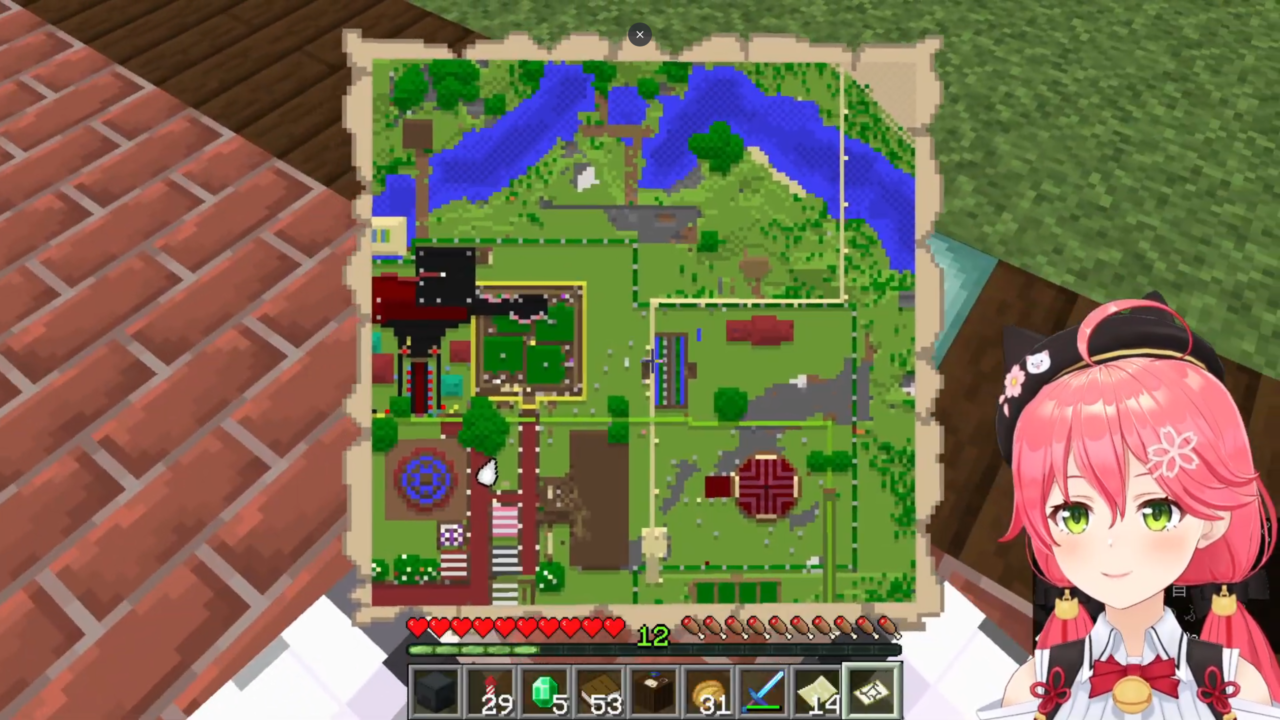 9423daeff3c245f9f9fbbeb0a48c2343 【 Minecraft 】ホロ鯖のMAP作りやったにぇ!【ホロライブ/さくらみこ】