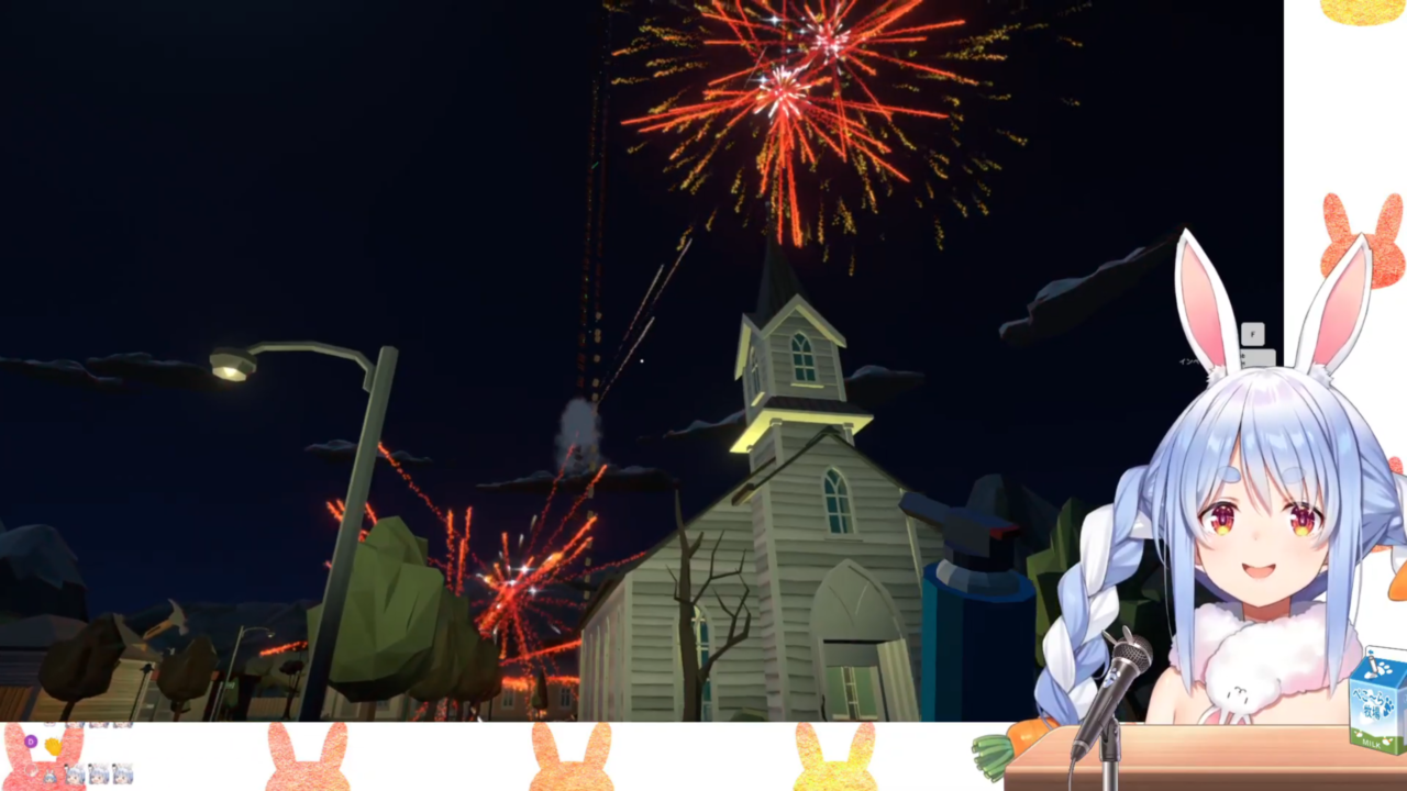 a479cb44b4a3decb02b858cbabde34a4 【Fireworks Mania】大花火を打ち上げたる!!!!ぺこ!【ホロライブ/兎田ぺこら】