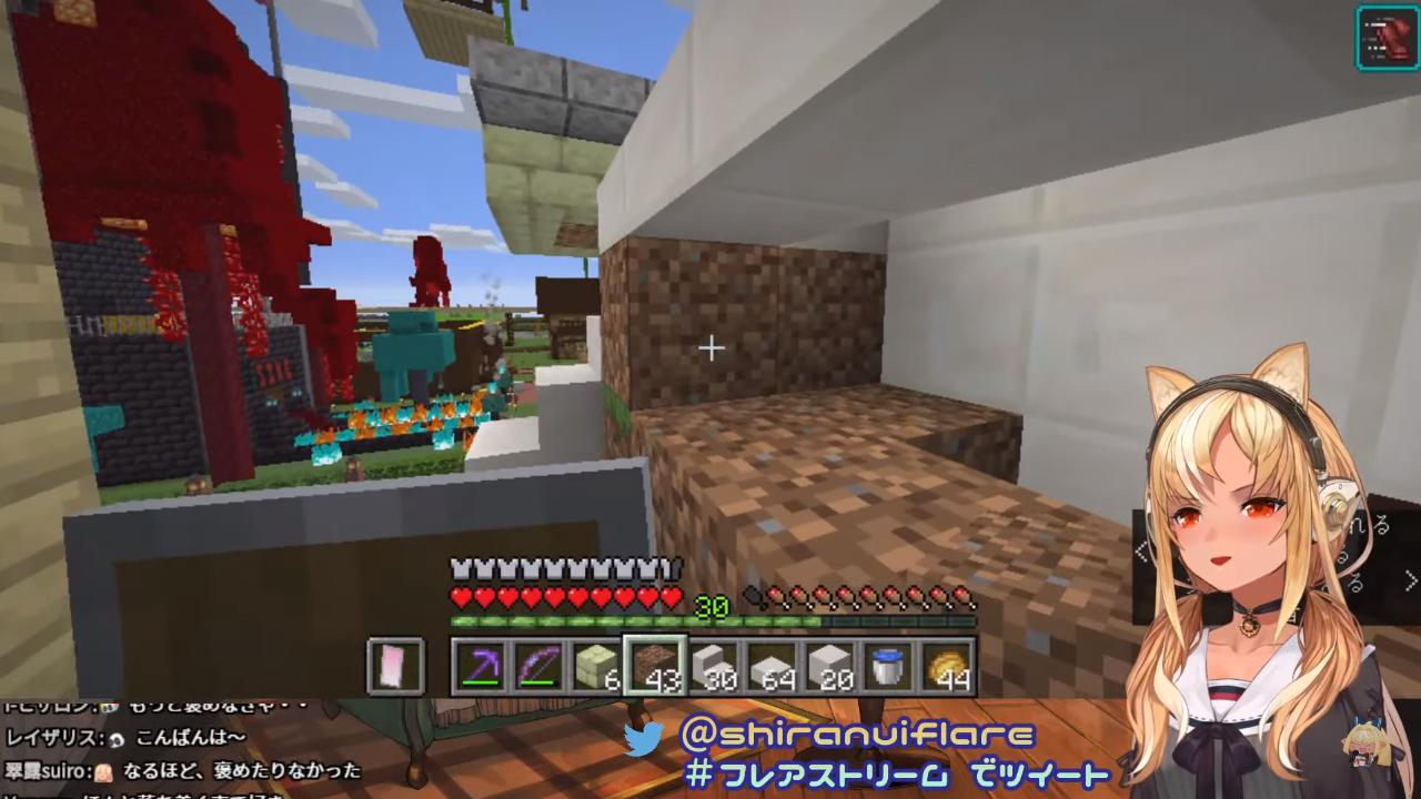 b6f922604e10561720981119b60d32f0 【マインクラフト/Minecraft】ホロ鯖ネザーゲート付近を建築!【不知火フレア/ホロライブ】