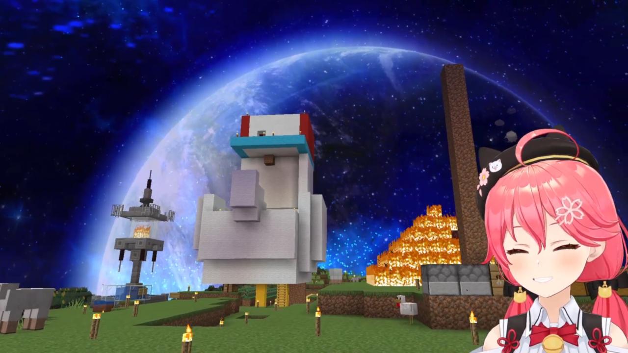 bc5eff1cdb5e97c9ed8c99d92d0616a1 【 Minecraft 】ホロ鯖のMAP作りやったにぇ!【ホロライブ/さくらみこ】