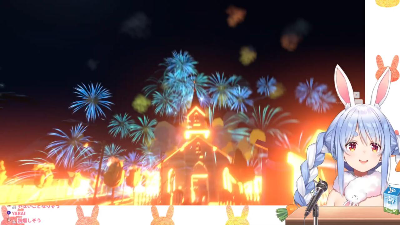 c631a6c7a77fd456f3c2ff9661bb01c4 【Fireworks Mania】大花火を打ち上げたる!!!!ぺこ!【ホロライブ/兎田ぺこら】
