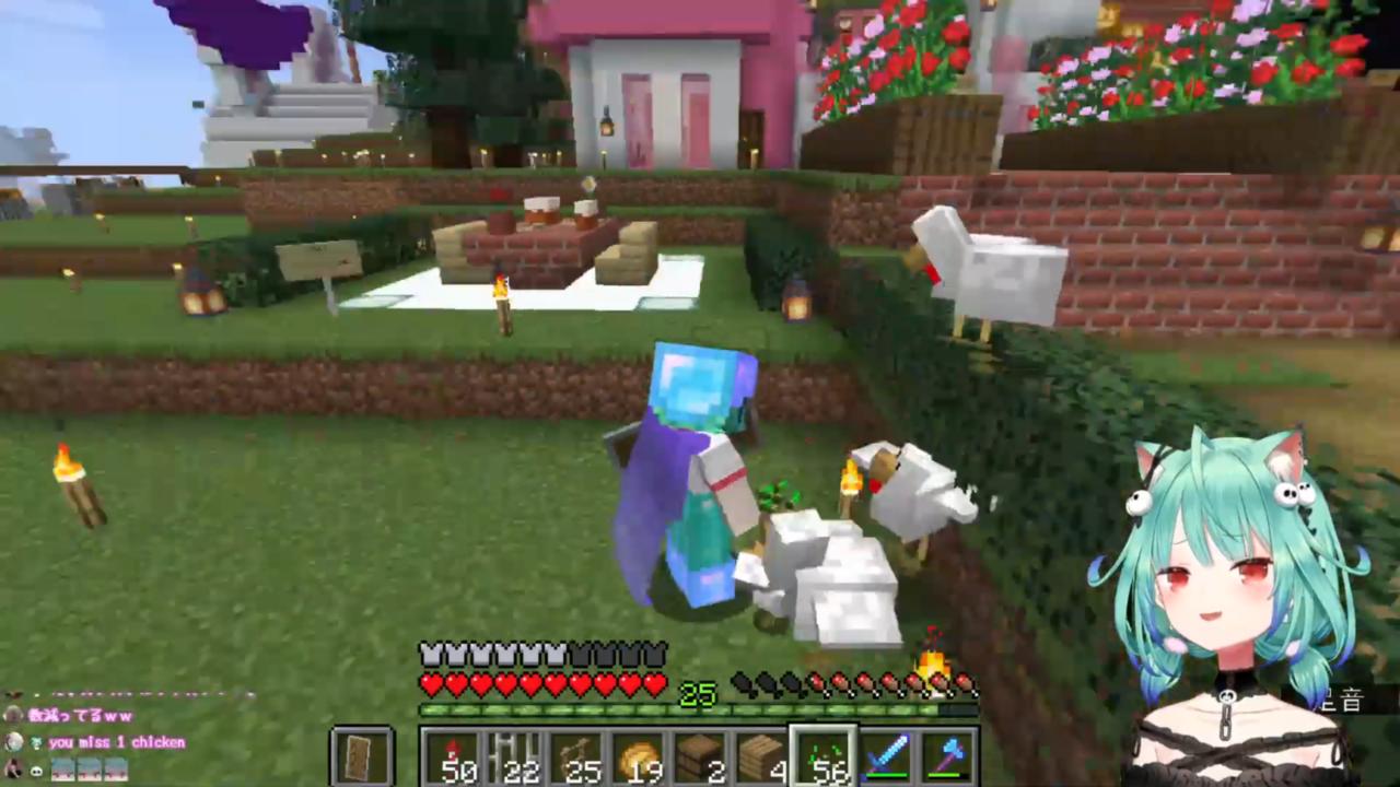 d6e614b7e5f369ab74bc8eb53db3233f 【Minecraft】大空建築に焼き鳥屋さんを作る!!!【潤羽るしあ/ホロライブ】