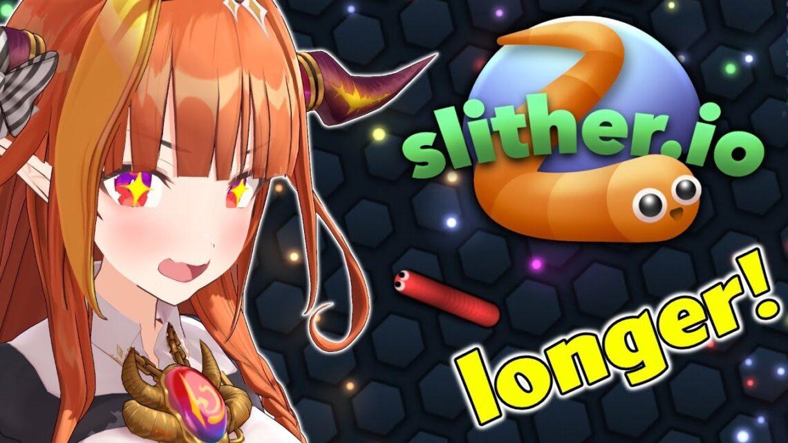 【slither.io】初めてのミミズびよーーーーーーーーん【桐生ココ/ホロライブ】