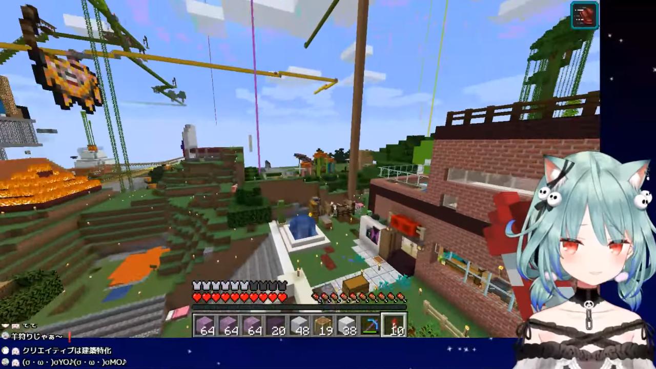 08421e43cc77395f5809d6a8184f4a3b 【Minecraft】建築下手がココちゃんへプレゼントつくる!【潤羽るしあ/ホロライブ】