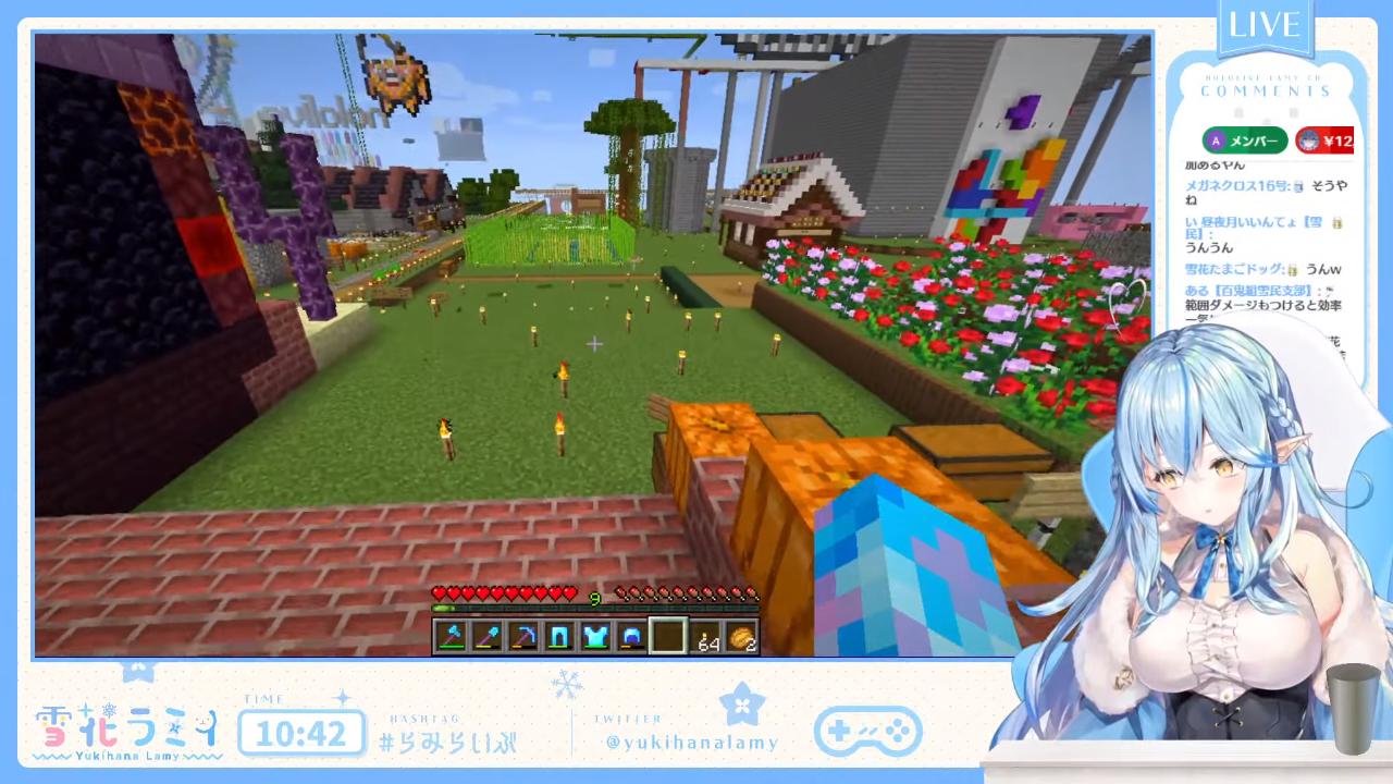 13bbc9b9b8bf834eb1cb986aef994068 【Minecraft】5期生ビル周辺を開拓するのだ【雪花ラミィ/ホロライブ】