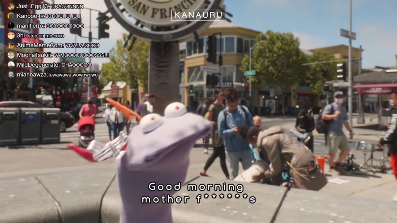 22cefbdeb7fa08e492901b03b2d90e94 Muppet Coco Helps Tourist Miko Find Statue of Liberty in San Francisco「 Sakura Miko 」 実写版ココ会長とエリートみこちの英会話!!