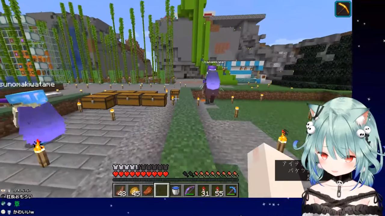 b7b3f2b68138537dfaaee7eb0ebbbbe5 【Minecraft】建築下手がココちゃんへプレゼントつくる!【潤羽るしあ/ホロライブ】