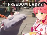 Muppet Coco Helps Tourist Miko Find Statue of Liberty in San Francisco「 Sakura Miko 」 実写版ココ会長とエリートみこちの英会話!!