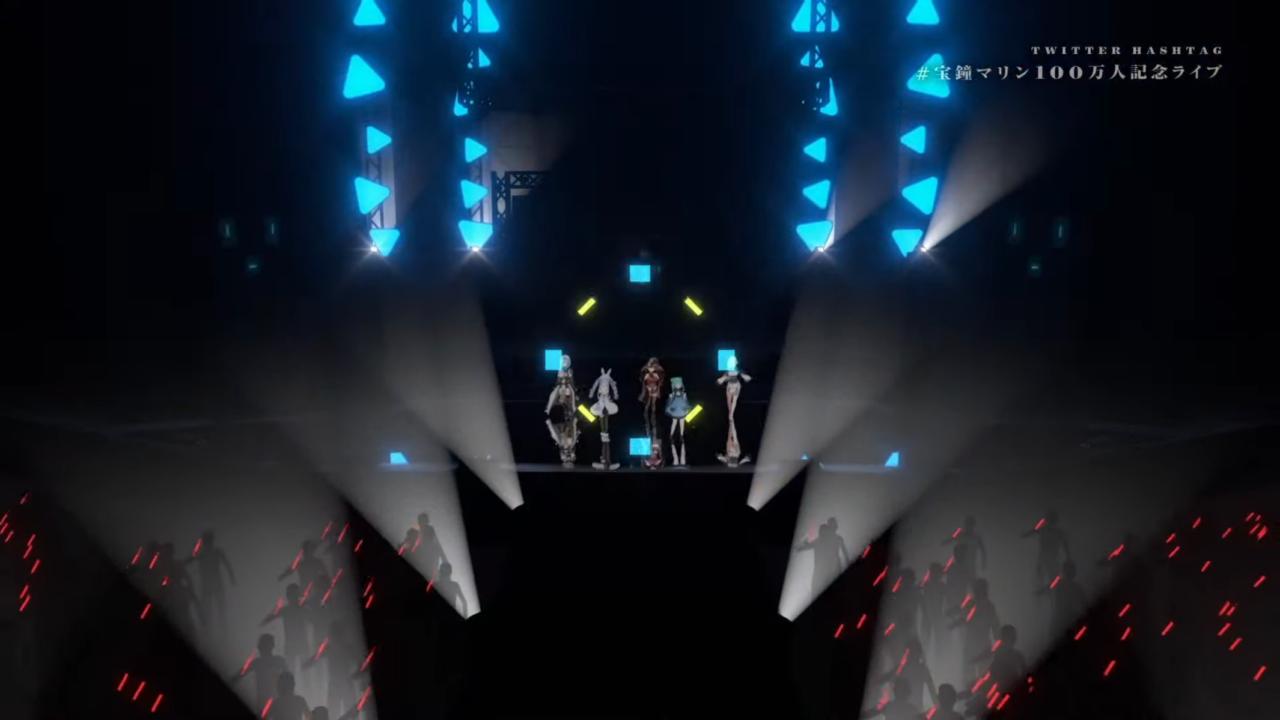 1a9ef9d6116bb83cbf4647e6abb201b7 【#宝鐘マリン100万人記念ライブ / 3DLIVE】Connected Fantasia【ホロライブ】