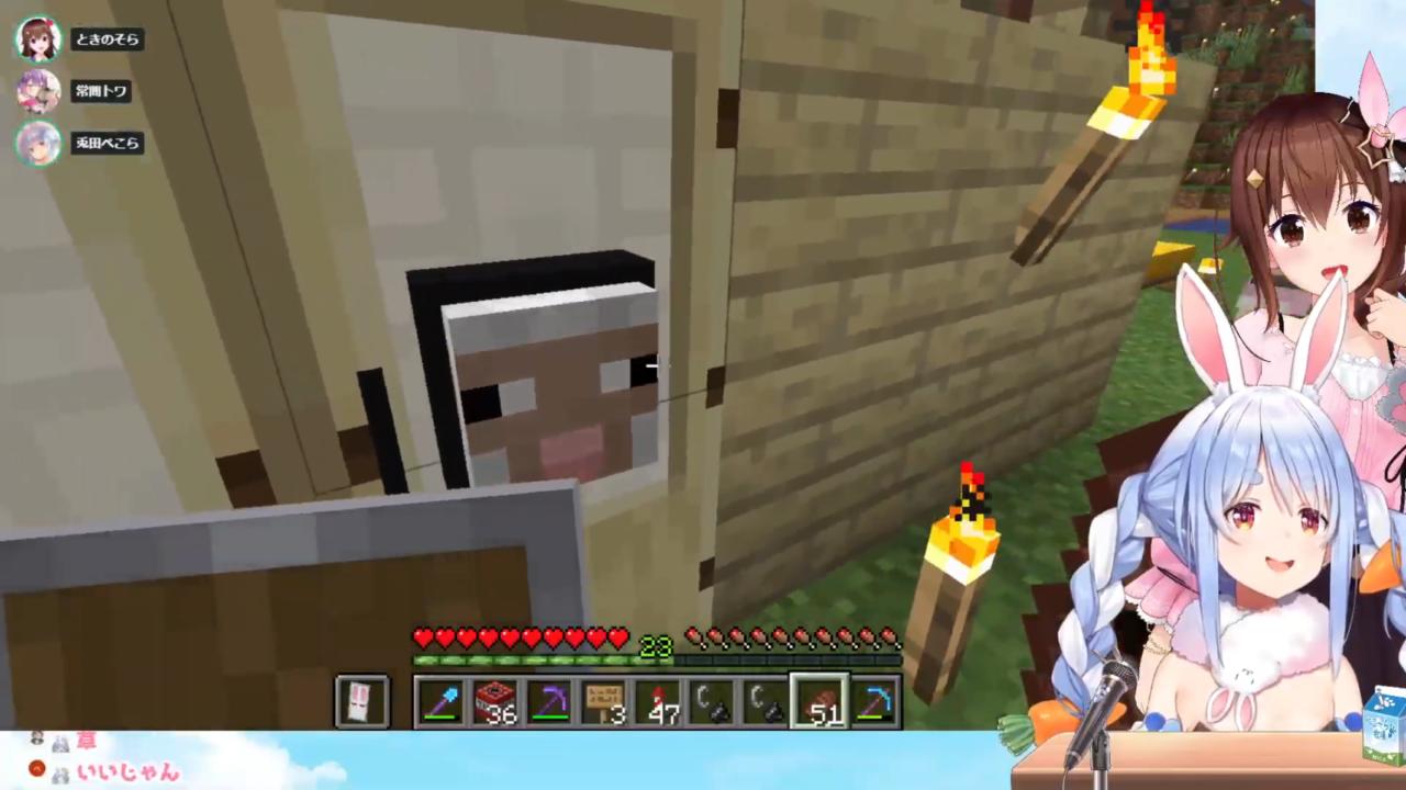 c7d462d8eb99750628c45e8234e1d52f 【Minecraft】TNTでTMTをドッキリ大作戦!そらトレイン出発!ぺこ!【ホロライブ/兎田ぺこら】