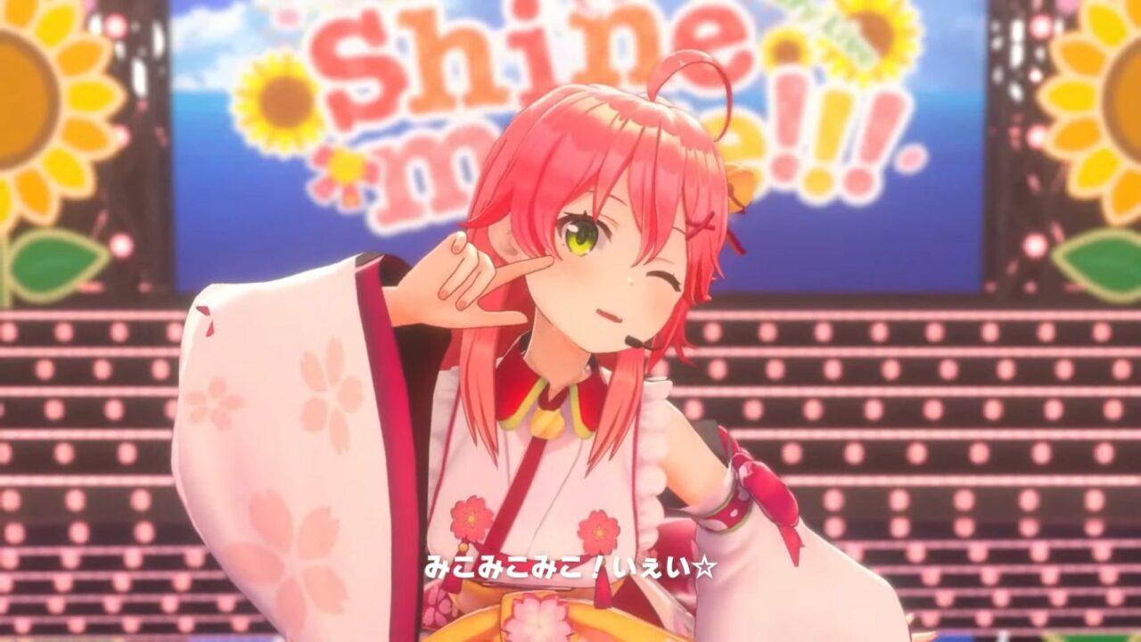 E7tEBIDUcAAfWoQ 【 3DLIVE 】3rd Anniversary LIVE Shine more!!! 【#さくらみこ3周年LIVE】