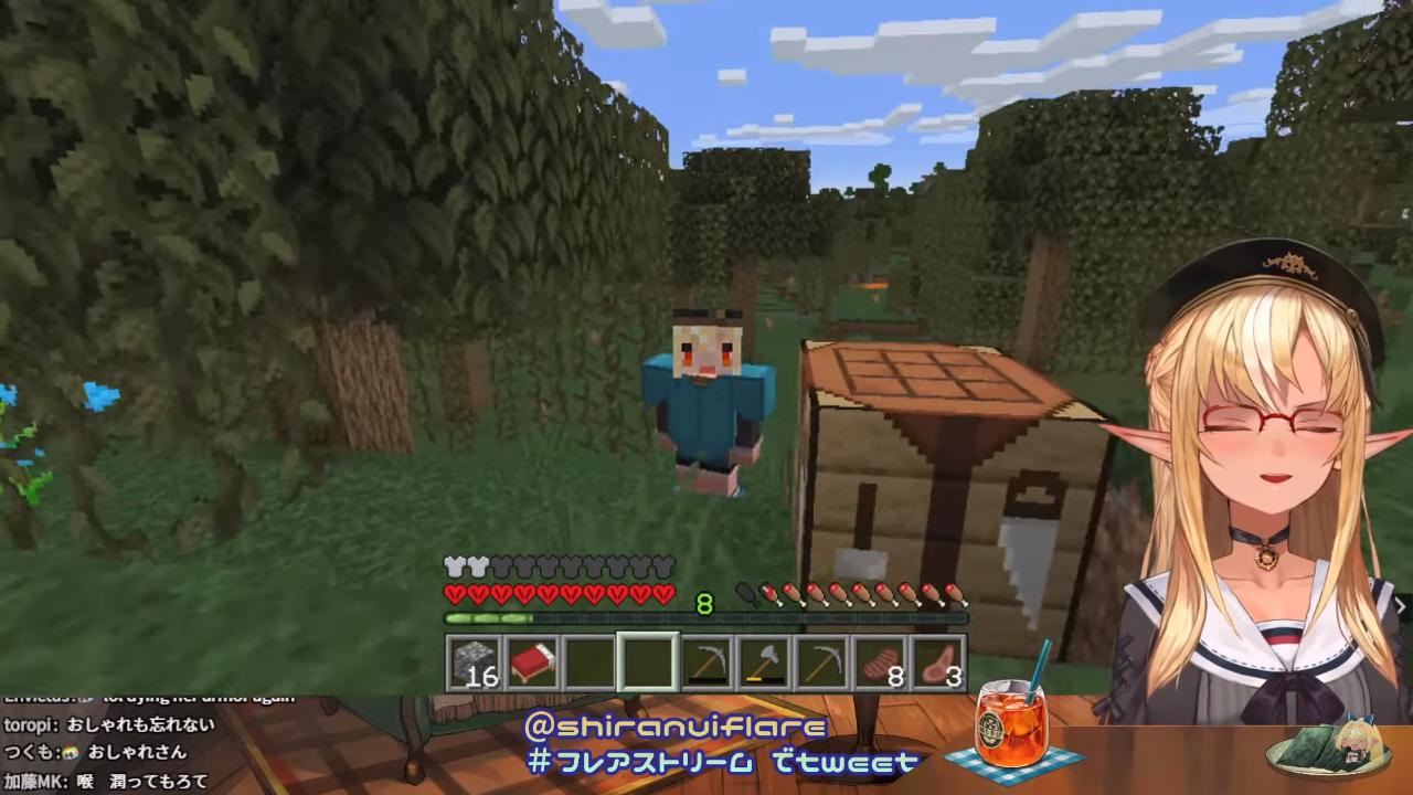 aa36538bc5a15eebea70624abd99fcc7 【マインクラフト/Minecraft】ハードコアで生き残る!【不知火フレア/ホロライブ】