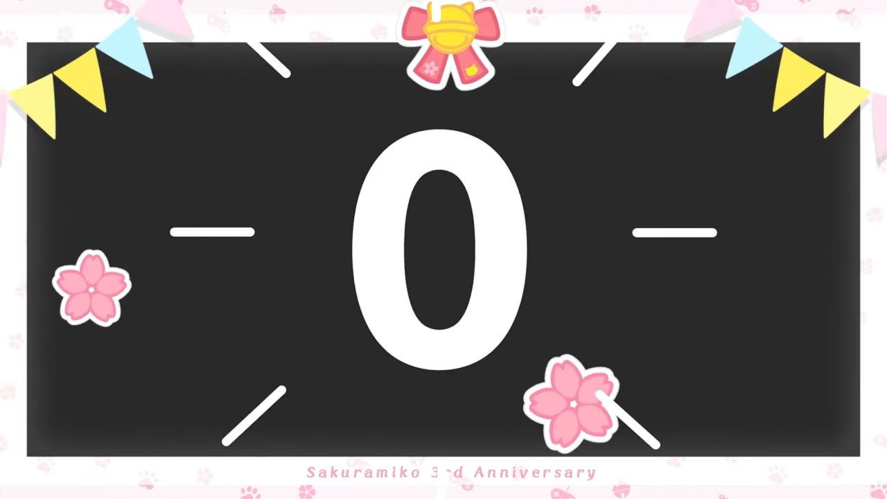 ee5ed07ed50e391bcb69c02e6fd295b7 【 3DLIVE 】3rd Anniversary LIVE Shine more!!! 【#さくらみこ3周年LIVE】