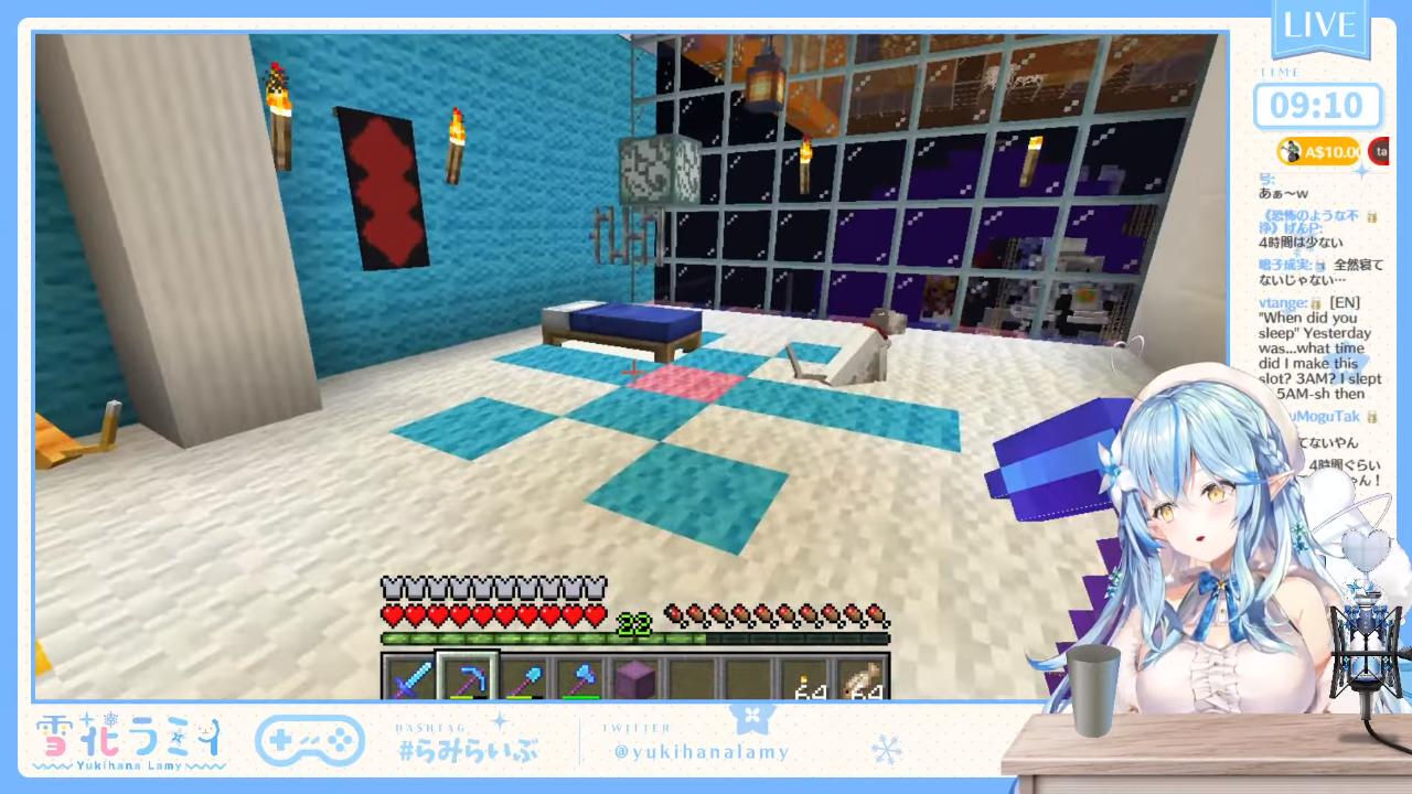 b45f16a80288c82d787a45c443153972 【Minecraft】🌷お花畑の隠れ家を作る🌷#02【雪花ラミィ/ホロライブ】