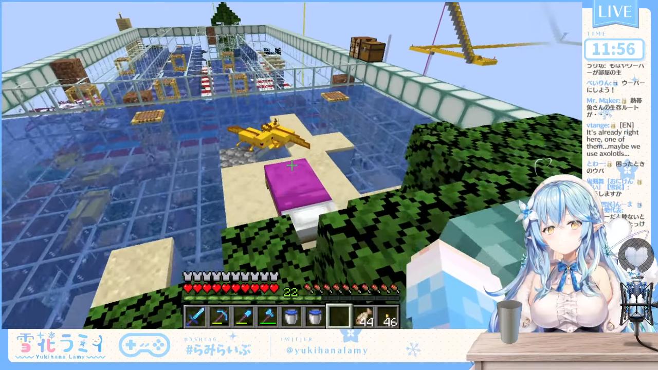 f9bdc9843679a0824d3e6ab26dfc061f 【Minecraft】🌷お花畑の隠れ家を作る🌷【雪花ラミィ/ホロライブ】