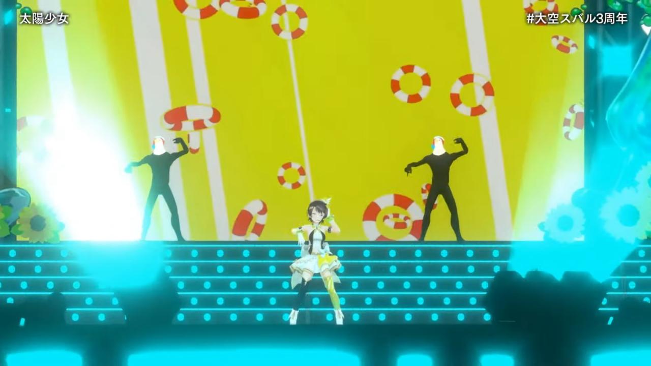 195f4754b62e83041bdfb7074741a9ff 【#大空スバル3周年】おまたせ!今日はたのしんでってな~!!!!:SUBARU 3rd anniversary Live【ホロライブ】 キレッキレなダンスで最高に最強にアイドルなスバルちゃん。