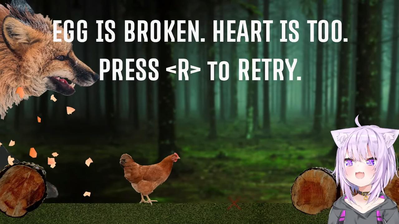 295d6b6d21cf6b2bfa46c4f0b815653d 【たまご守る】egg is broken. heart is too. やる!!【猫又おかゆ/ホロライブ】
