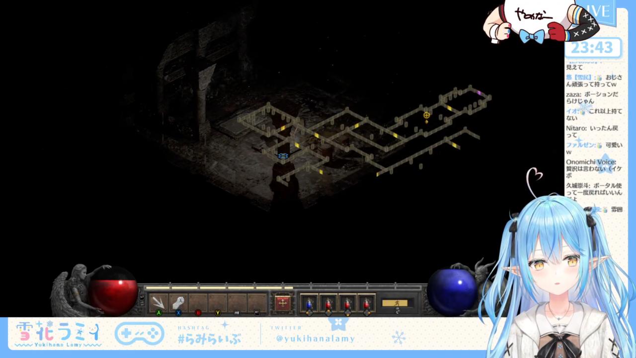388c3c35fc65a61c96f1aa6fdfe6f2f4 【Diablo II: Resurrected】ディアブロ II リザレクテッド、初プレイ!【雪花ラミィ/ホロライブ】