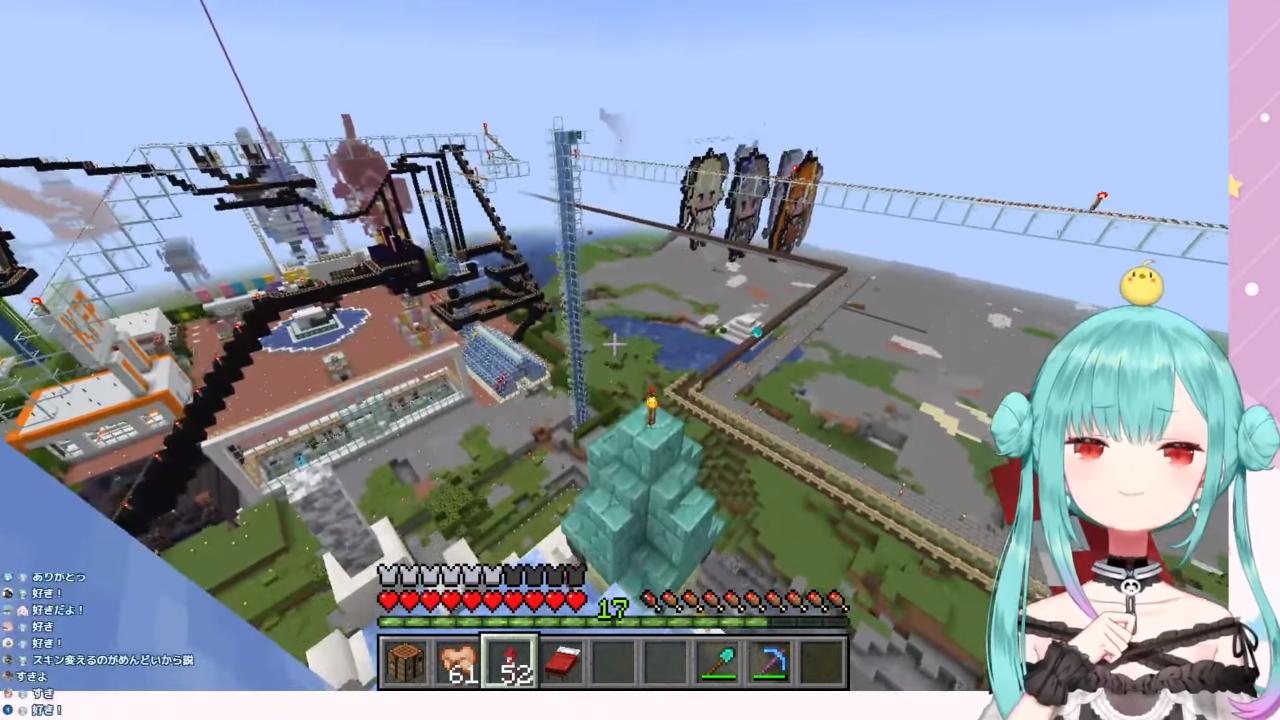 3c88b0c18b974c61fc1aeade243182bf 【Minecraft】うさ建に!!漢のロマンあふれるものおおお!!!【潤羽るしあ/ホロライブ】