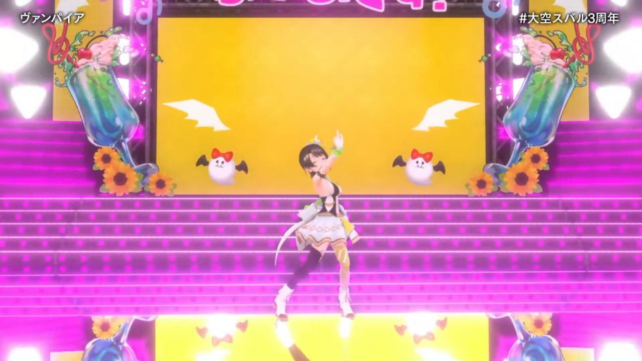 4d939b968765b5ef2be5bb90561de08a 【#大空スバル3周年】おまたせ!今日はたのしんでってな~!!!!:SUBARU 3rd anniversary Live【ホロライブ】 キレッキレなダンスで最高に最強にアイドルなスバルちゃん。