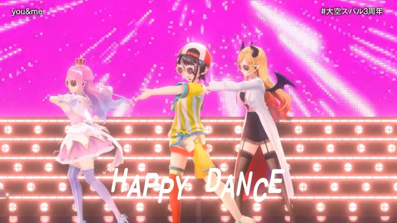 9d118c8ccc395cea100f23b3e48a8b13 【#大空スバル3周年】おまたせ!今日はたのしんでってな~!!!!:SUBARU 3rd anniversary Live【ホロライブ】 キレッキレなダンスで最高に最強にアイドルなスバルちゃん。