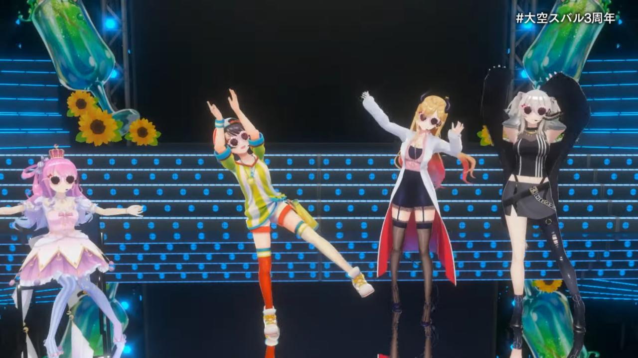 e085b0569e47ba0d618fa1d7d4845c36 【#大空スバル3周年】おまたせ!今日はたのしんでってな~!!!!:SUBARU 3rd anniversary Live【ホロライブ】 キレッキレなダンスで最高に最強にアイドルなスバルちゃん。