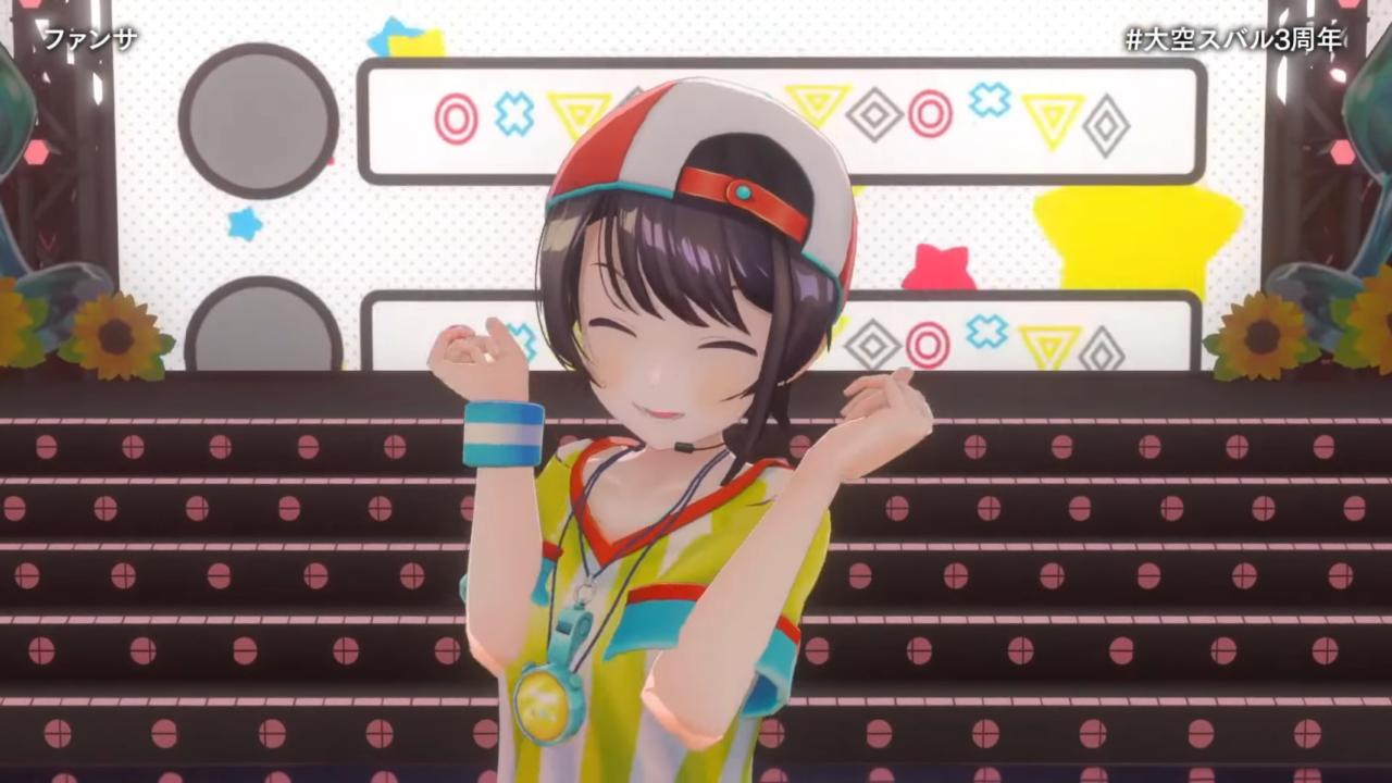 fdca02c9ed693208bd9f287436f2c544 【#大空スバル3周年】おまたせ!今日はたのしんでってな~!!!!:SUBARU 3rd anniversary Live【ホロライブ】 キレッキレなダンスで最高に最強にアイドルなスバルちゃん。